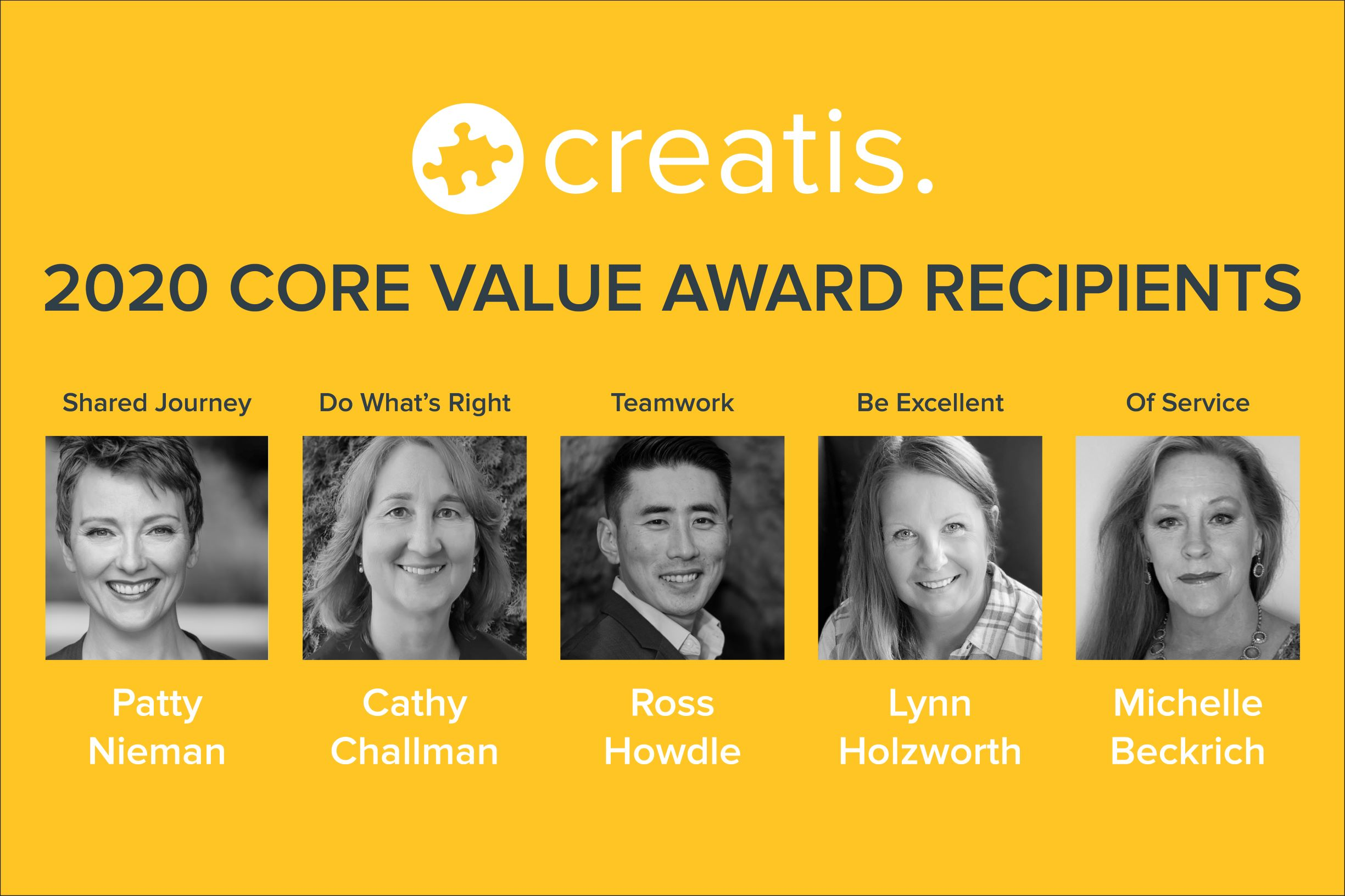 Creatis 2020 Core Value Winners